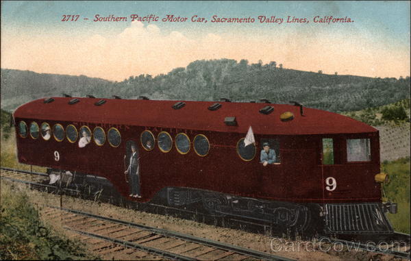 Southern Pacific Motor Car, Sacramento Valley Lines