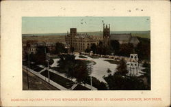 Dominion Square, showing Windsor Station and St. George's Church