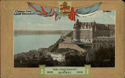 Chateau from Laval University Postcard