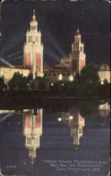 Italian Towers, Illuminated at the Pan-Pac Int. Exposition