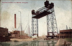 Halsted Street Lift Bridge Postcard