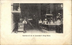 Interior of Al. A. Lenocker's Drug Store
