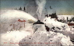 Rotary Snowplow at Work in the High Sierras, Ogden Route SPRR