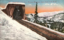 Snowsheds in the Sierra Nevada Mountains, Ogden Route, SPRR
