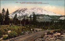 Mt. Shasta from Southern Pacific Co. Railroad