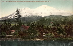 Mt. Shasta from McLoud River Fish Hatchery, Shasta Route, SPRR