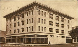 A Business Block Postcard