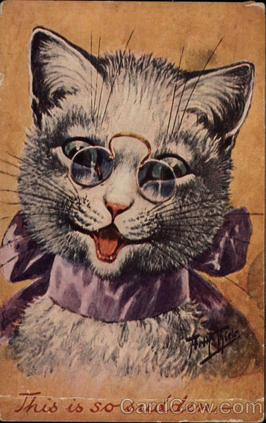 cat wearing spectacles Arthur Thiele Cats