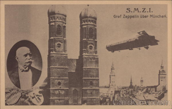 S.M.Z.I. Graf Zeppelin over Munich Airships