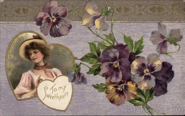 To My Sweetheart - Pansies Romance & Love