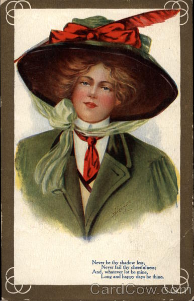Lady with huge hat Women