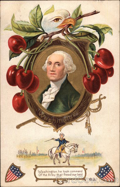 Portrait of George Washington with Eagle and Cherries