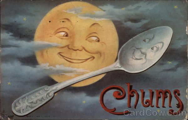 Chums Moon And Spoon Smile At One Another Nursery Rhymes