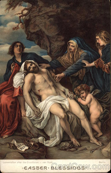 Lamentation After the Crucifixion by van Dyck With Jesus Christ