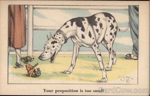Dalmation Speaks to a Chihuahua Dogs