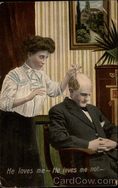 Woman Plucks Hairs from a Sleeping Man's Head Comic, Funny