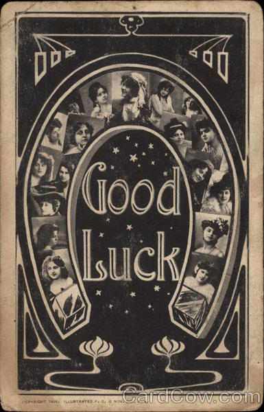 Good Luck - Horseshoe Greetings