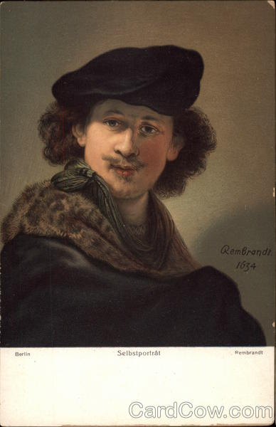 Rembrandt self portrait 1634 Art