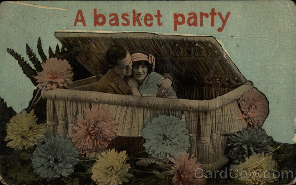 A Basket Party: A couple Hugs in a Basket Couples