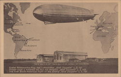 "The first South American flight of the airship ""Graf Zeppelin"""