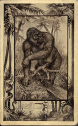 Historic drawing of a Gorilla