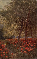 Scene with Trees and Poppies