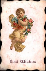 Cherub with Flowers