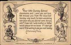 Sunday School Absentee Card