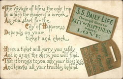 The voyage of life is the only trip Postcard