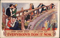 Step upon Step - Lip upon Lip, Everbody's Doing' It Now Postcard