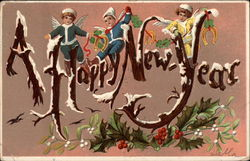 A Happy New Year - Angels and Holly