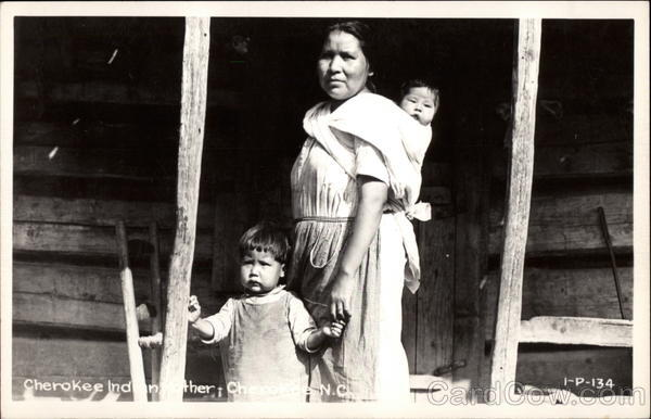 Cherokee Indian Family North Carolina Native Americana