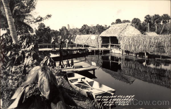 An Indian Village in the Everglades Naples Florida