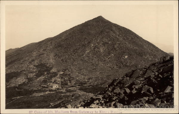 Cone of Mt. Madison from Gateway to Kines Ravine White Mountains New Hampshire