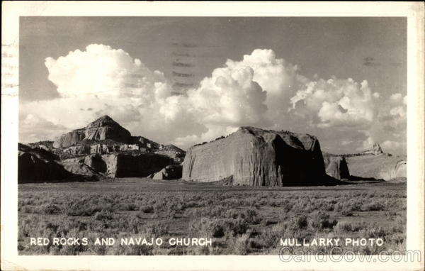 Red Rocks and Navajo Church Gallup New Mexico