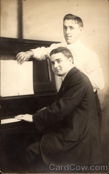 Portrait of Two Men at Piano Pianos