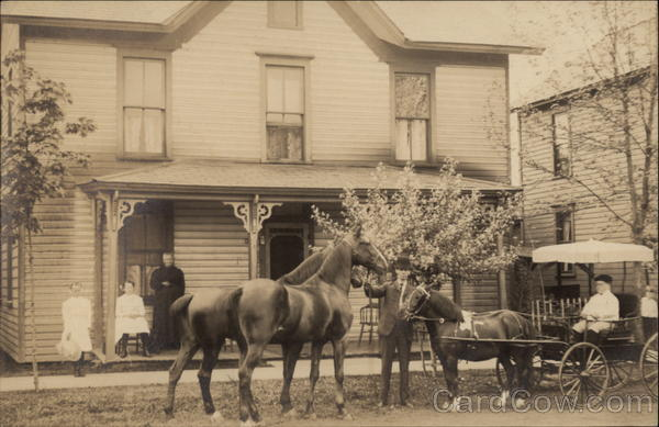 Grandma Beck & Helen and Family at Home Unidentified People