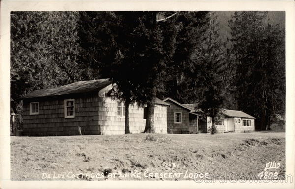 DeLux Cottages at Lake Crescent Lodge Olympic National Park Washington