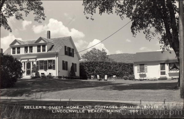 Keller's Guest Home and Cottages on U.S. Route 1 Lincolnville Beach Maine