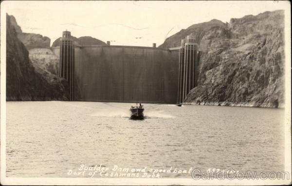 Boulder Dam and Speedboat Nevada