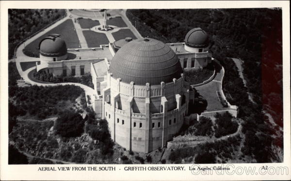 Aerial View from the South, Griffith Observatory Los Angeles California