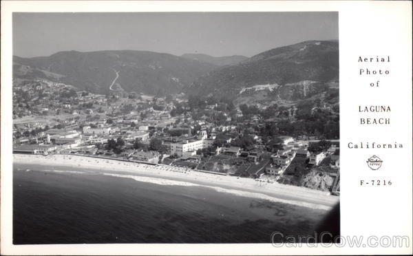 Aerial View of Beach and Town Laguna Beach California