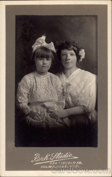 Portrait of Two Sisters Children