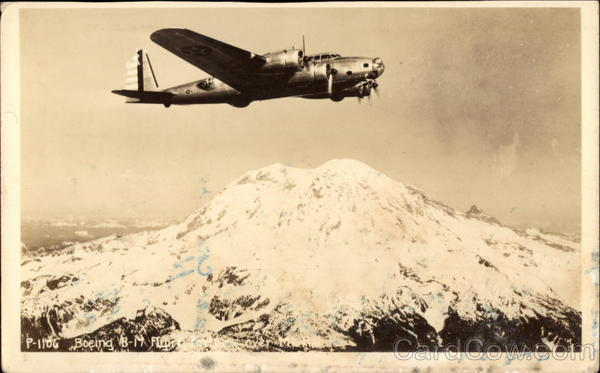 Boeing B-17 Flying Over Mountaintop Aircraft