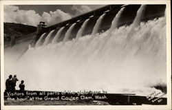 Visitors from All Parts of the Globe Gaze at Dam