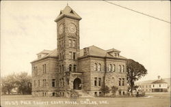 The Polk County Courthouse in Dallas, Oregon Postcard