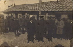 Soldiers Standing in Front of Headquarters
