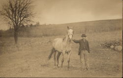 Chauncey Throop and his Horse