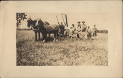 Horse-drawn Plough and Farm Workers