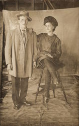 Hattie Tuttle Posing with Gentleman